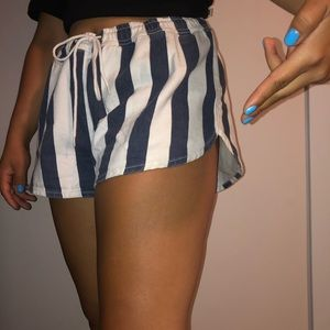 vertical striped Urban Outfitters denim shorts!